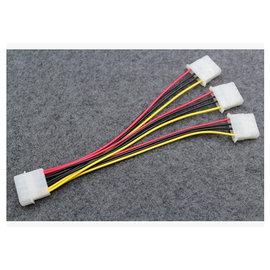 (主機板/power) 大4PIN 一分三 1公對3母 電源線/延長轉接線/電腦排線