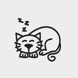 ~C3~~打瞌睡的貓~ ^| The Sticker Family車用標誌貼