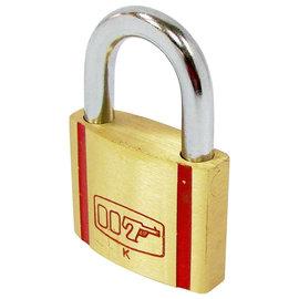 007銅掛鎖35mm~安全防盜 堅固耐用~雙面珠蛇溝~  優良