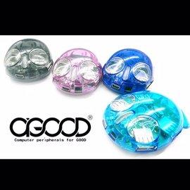 A~GOOD LED透明發財魚USB 2.0 4PORT HUB ^(顏色 出貨^)
