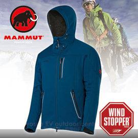 【瑞士 MAMMUT 長毛象】男 新款 Ultimate Inuit Jacket Windstopper 防風透氣連帽軟殼外套(長刷毛-加保暖)Gore 潑防水 13930-5189 藍