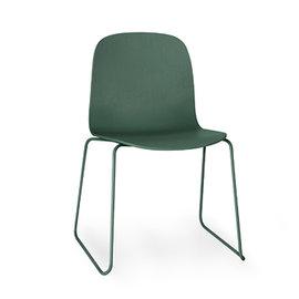 丹麥 Muuto Visu Chair on Sled Base 薇蘇 木質單椅 金屬線框