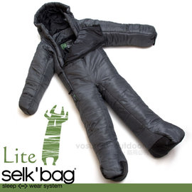 【Selk'Bag】神客睡袋人 Lite 輕量系列-新款 中空纖維穿著式睡袋(適溫12℃).人形睡袋.保暖睡袋/透氣保暖/SB4LTDS 暗影灰