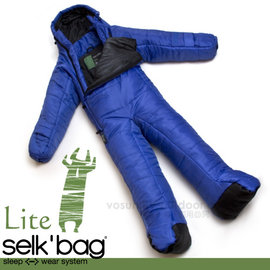 【Selk'Bag】神客睡袋人 Lite 輕量系列-新款 中空纖維穿著式睡袋(適溫12℃).人形睡袋.保暖睡袋/透氣保暖/SB4LTSW 音速藍