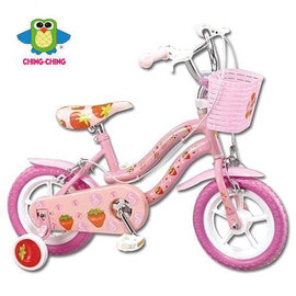 『SL10-11』【CHING-CHING親親】12吋 草莓腳踏車(粉色) (QW1250P)