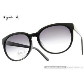 agnes b.太陽眼鏡 AB2816 BC ^(黑^)  微貓眼 款 墨鏡 ^# 金橘眼