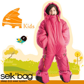 【Selk'Bag】神客睡袋人ORIGINAL KIDS 兒童經典款-新款 中空纖維穿著式睡袋(適溫7℃).人形睡袋.保暖睡袋/透氣保暖/SB4KFPK 粉紅