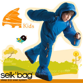 【Selk'Bag】神客睡袋人ORIGINAL KIDS兒童經典款-新款中空纖維穿著式睡袋(適溫7℃).人形睡袋.保暖睡袋/透氣保暖/SB4KDBK 皇家藍(缺貨中)