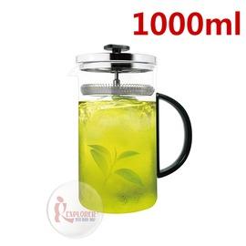 探險家戶外用品㊣DR-TEA-SR10 Driver冷泡茶壺-1000ml 泡茶壺 耐熱玻璃壺 玻璃冷泡壺 沖茶器 (德國玻璃 品質保證 )