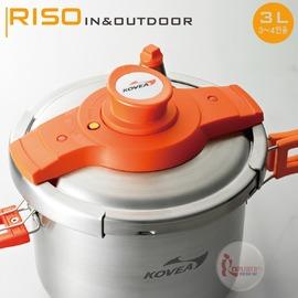 探險家戶外用品㊣KCW-PC300韓國KOVEA RISO不鏽鋼壓力鍋3L/兩用壓力鍋/露營套鍋組 附收納袋
