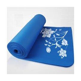 深藍色浪漫櫻花瑜珈墊6mm 三件套組 瑜珈用品 野餐 餐墊 地墊