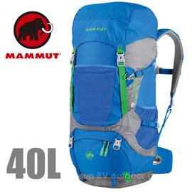 【瑞士 MAMMUT 長毛象】Heron Crest 40+10L 專業透氣舒適登山背包/自助旅行背包.適休閒旅遊.健行登山/ 02910-5589 藍灰