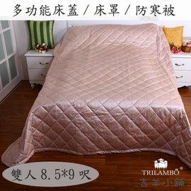 ~ 防塵蓋~多 舖棉 床蓋 床罩 防寒被 雙人8.5^~9呎 ^(可可^)
