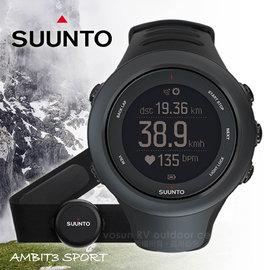 【芬蘭 SUUNTO】AMBIT3 SPORT BLACK (HR) GPS 運動款新上市 全功能戶外運動錶/全能電腦腕錶/藍芽.心率.三鐵_黑