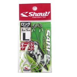 ◎百有釣具◎SHOUT 日本品牌 白帶魚輔助鉤 S/M/L
