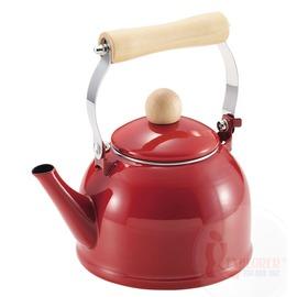 探險家戶外用品㊣H-5202 CAPTAIN STAG 日本鹿牌琺瑯水壺1.4L (紅) 燒水壺開水壺泡茶壺
