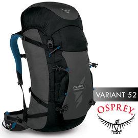 【美國 OSPREY】新款 Variant 52L 變量系列(可拆背板_頂袋_M) 多功能登山健行背包(可當一般包使用)/滑雪.冰攀.自助旅行_ 銀河黑 R