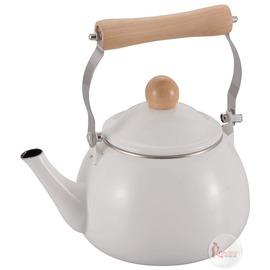 探險家戶外用品㊣H-7683 CAPTAIN STAG 日本鹿牌 琺瑯水壺1.6L (米白) 燒水壺開水壺茶壺