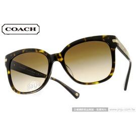 COACH 太陽眼鏡 COS8103F 522713 ^(深邃琥珀^) 簡約高雅微貓眼大框