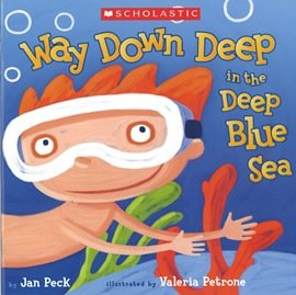 WAY DOWN DEEP IN THE DEEP BLUE SEA  平裝繪本