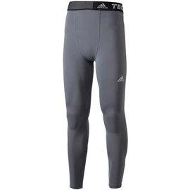 Adidas~Techfit ClimaLite 慢跑 壓縮 緊身 長褲-灰 (D82127)