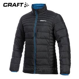 【瑞典 Craft】男款Alpine Light Down Jacket 機能性高山羽絨外套(90/10水鳥羽絨).輕量防潑水羽絨衣.夾克.雪衣_1902294-9350 黑