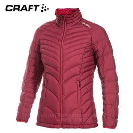 【瑞典 Craft】女新款Alpine Light Down Jacket 機能性高山羽絨外套(90/10水鳥羽絨).輕量防潑水羽絨衣.夾克.雪衣.保暖外套/1902293 紫紅