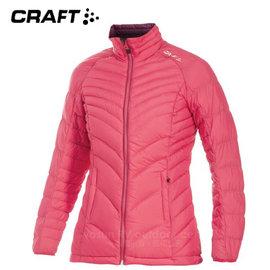 【瑞典 Craft】女新款Alpine Light Down Jacket 機能性高山羽絨外套(90/10水鳥羽絨).輕量防潑水羽絨衣.夾克.雪衣.保暖外套/1902293 桃紅