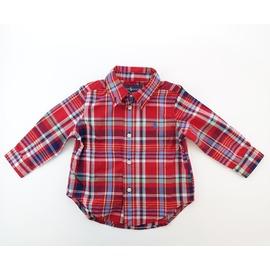 ~RALPH LAUREN POLO 紅色格子襯 衫~