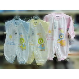 Gile Baby 動物樂園塗鴉底長袖反袖兔裝(OA1433) (藍/黃/粉三色可選) *秋冬新款!*
