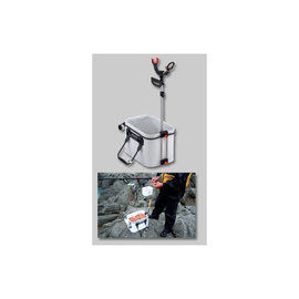 ◎百有釣具◎日本 第一精工 バッカン受三郎 兩段式 誘餌袋/桶 置竿架 67~87CM