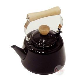 探險家戶外用品㊣H-7875 CAPTAIN STAG 日本鹿牌 琺瑯水壺1.6L (深棕) 燒水壺開水壺琺瑯茶壺