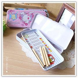 【winshop】A2208 三麗鷗卡通雙層鉛筆盒/三麗鷗正版授權/台灣製造/文具收納/鐵製鉛筆盒/鉛筆袋/收納盒
