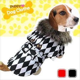 格子斗篷大衣寵物裝E118-A19(寵物衣.寵物衣服寵物服裝.小狗衣服貓衣服.用品.推薦哪裡買)