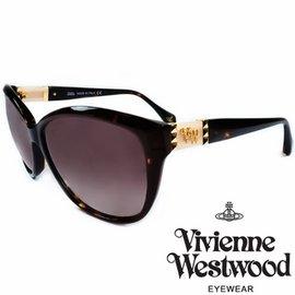 Vivienne Westwood 英國薇薇安魏斯伍德龐克鉚釘LOGO太陽眼鏡 琥珀 粉