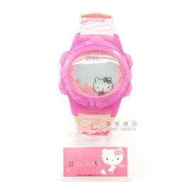 東櫻 ~ 凱蒂貓 Hello Kitty LED電子手錶 桃紅色 489512012911