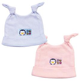 PUKU藍色企鵝 ~ 新生嬰兒帽 ^(水藍 粉紅^)