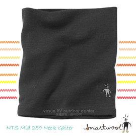 【美國 SmartWool 】NTS Mid 250 Neck Gaiter 美麗諾羊毛 保暖頸圍/雙層雙面針織圍巾.圍脖/聰明羊.登山健行.滑雪_ SC953 黑色