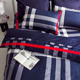 ~OLIVIA ~DR625 英國藍 雙人特大6X7薄床包薄被套組