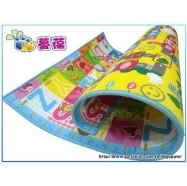 【紫貝殼】『MBA11-1』《蔓葆嬰兒爬行墊 》大富翁+歡樂字母雙面2cm特厚款 200x160x2.0cm遊戲墊/地墊