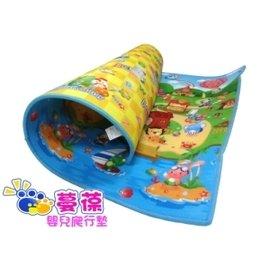 【紫貝殼】『MBA12-1』《蔓葆嬰兒爬行墊 》小虎假期+快樂牧場 雙面2cm特厚 200x180x2.0cm遊戲墊/地墊