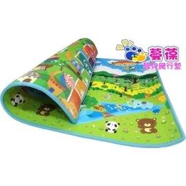 【紫貝殼】『MBA12-2』《蔓葆嬰兒爬行墊 》森林樂園+趣味跳房子雙面2cm特厚款 200x180x2.0cm遊戲墊/地墊