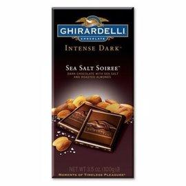 GHIRARDELLI吉爾德利~特級海鹽杏仁黑巧克力片100g