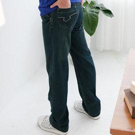 ~我思酷我在~ENGERHWA紫白雙色~立體繡線袋花~大斜口袋中腰直筒~廣告明星最愛牛仔褲