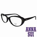ANNA SUI 安娜蘇 金屬 水鑽薔薇 眼鏡 黑 AS622~001