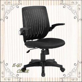 ~E~GO Chair椅購網~收納型扶手辦公椅 電腦椅 半網網椅 人體工學 透氣 黑色 居