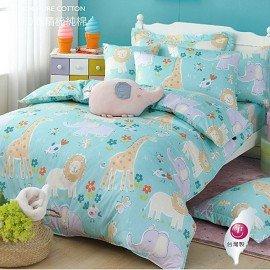 ~OLIVIA ~ DR370 肯亞大冒險 綠  單人床包美式枕套二件組