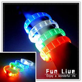 【Q禮品】B2229 條狀LED手環/多段式LED燈手環/運動手環/彩色發光LED 手鐲/演唱會 造勢活動 尾牙 派對