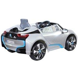【店面購買6600元】『CK26』原廠寶馬BMW I8 雙開門電動車(附遙控)(銀)W480QG(緩起步)【贈 動物家族拉拉樂積木】