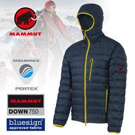 【瑞士 MAMMUT 長毛象】Broad Peak Hoody 750FP 男款防風輕量連帽鵝絨羽絨衣.防潑水保暖抗撕裂羽絨外套 (僅410g)_深藍 10441